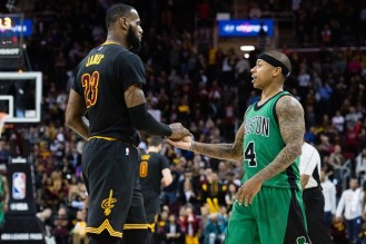 lebron-james-of-the-cleveland-cavaliers-celebrates-with-isaiah-thomas-of-the-boston-celtics-during-the-final-seconds-second-half-at-quicken-loans-arena-on-december-29-2016-in-cleveland-ohio
